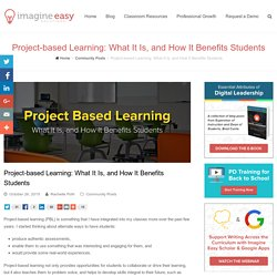 Project-based Learning: What It Is, and How It Benefits Students