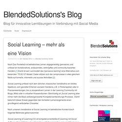 Social Learning – mehr als eine Vision
