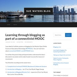 Learn through blogging - Sue Waters