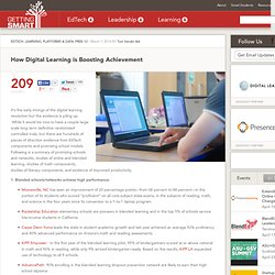 How Digital Learning is Boosting Achievement - Getting Smart by Tom Vander Ark - blended learning, Online Learning