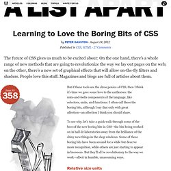 Learning to Love the Boring Bits of CSS