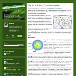 21st Century Learning: The Art of Building Virtual Communities (