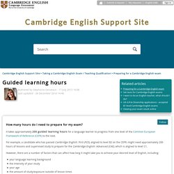 Guided learning hours – Cambridge English Support Site
