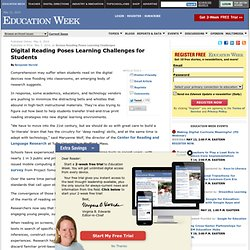 Digital Reading Poses Learning Challenges for Students - Education Week