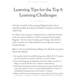 Learning Tips for the Top 8 Learning Challenges