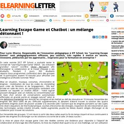 Learning Escape Gameet Chatbot : un mélange détonnant !