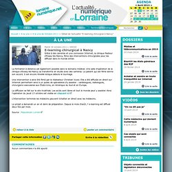 E-learning chirurgical à Nancy