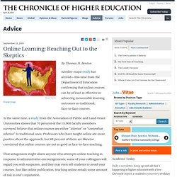 Online Learning: Reaching Out to the Skeptics - Advice - The Chr