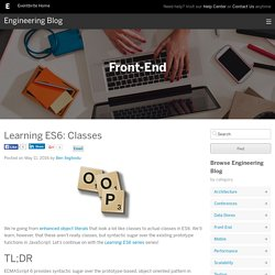 Learning ES6: Classes