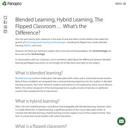 Blended Learning, Flipped Classroom - What's the Difference?