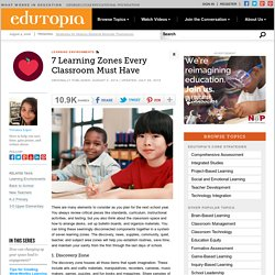 7 Learning Zones Every Classroom Must Have