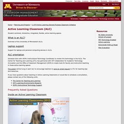 U of M Active Learning General Purpose Classroom Initiative