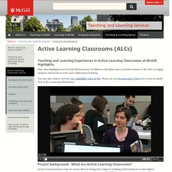 Active Learning Classrooms (ALCs)