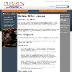 Skills for Online Learning