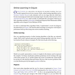 Online Learning in Clojure ← Structure & Process