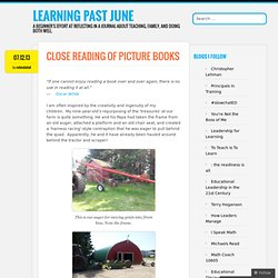 Close Reading of Picture Books