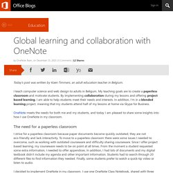 Global learning and collaboration with OneNote