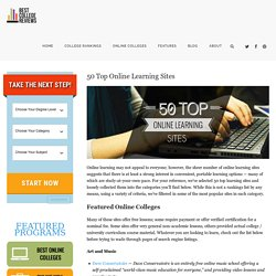 50 Top Online Learning Sites - Best College Reviews