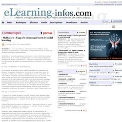 Communiqué - SkillCatch : l'app d'e-doceo qui boost le social learning