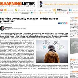 Learning Community Manager : métier utile et prometteur