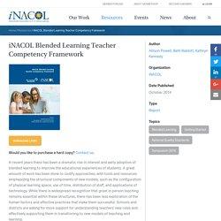 Blended Learning Teacher Competency Framework
