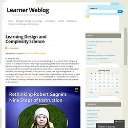 Learning Design and Complexity Science