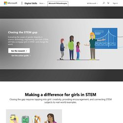 Girls Learning STEM and Computer Science