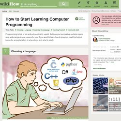 How to Start Learning Computer Programming: 7 Steps