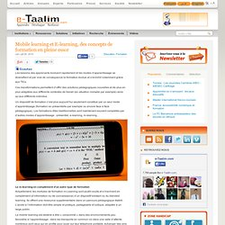 Mobile learning et E-learning, des concepts de formation en pleine essor