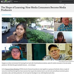 The Shape of Learning: How Media Consumers Become Media Producers
