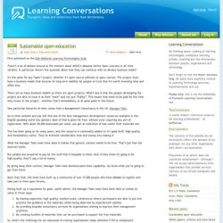 Learning Conversations - Web 2.0 and your own learning & development