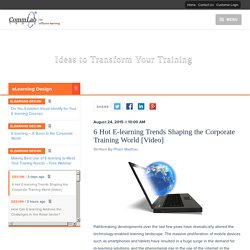 6 Hot E-learning Trends Shaping the Corporate Training World [Video]