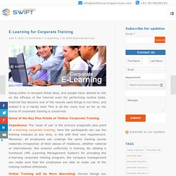 E-Learning for Corporate Training