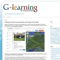 Creating an online trip presentation with Google Tour Builder