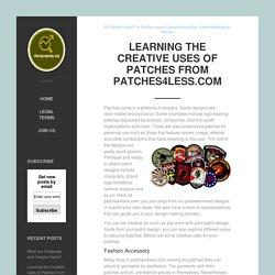 Learning the Creative Uses of Patches from Patches4less.com