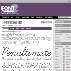 Free Font Learning Curve Pro by Blue Vinyl Fonts