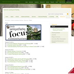 Focus - Centre for Learning and Teaching