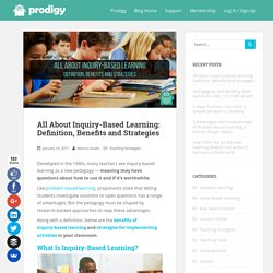 Inquiry-Based Learning Definition, Benefits & Strategies
