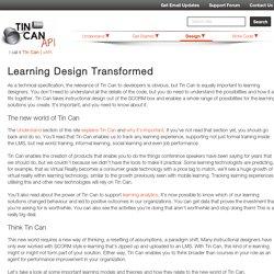 Learning Design Transformed