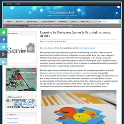 Learning by Designing Games (with useful resources, #GBL)