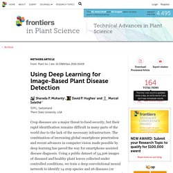 FRONTIERS IN PLANT SCIENCE 06/09/16 Using Deep Learning for Image-Based Plant Disease Detection 1EPFL, Switzerland 2Penn State University, USA