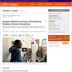 Wildwood Inquiry-Based Learning: Developing Student-Driven Questions