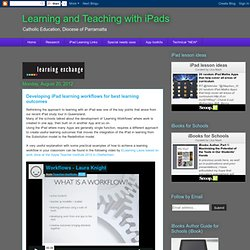 Developing iPad learning workflows for best learning outcomes