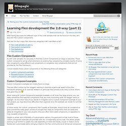 Learning Flex development the 2.0 way (part 2) | Blogagic