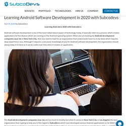 Learning Android Software Development in 2020 with SubcoDevs -newyork
