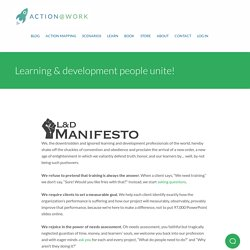 Learning & development people unite! - Training design - Cathy Moore