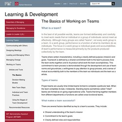 The Basics of Working on Teams