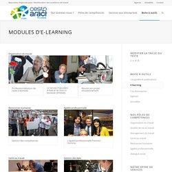 Les modules d'e-learning développés par le CESTP-Aract Picardie