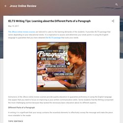 IELTS Writing Tips: Learning about the Different Parts of a Paragraph