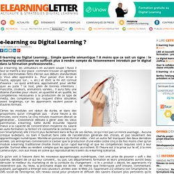e-learning ou Digital Learning ?